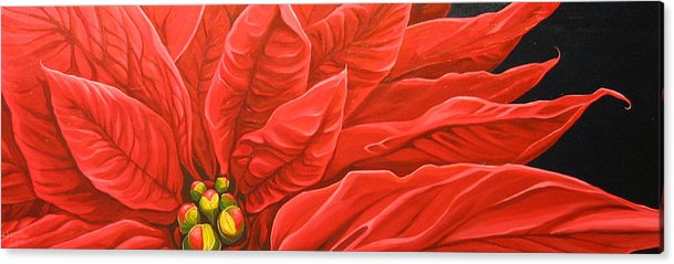 Floral Acrylic Print featuring the painting Scarlet Nights by Hunter Jay