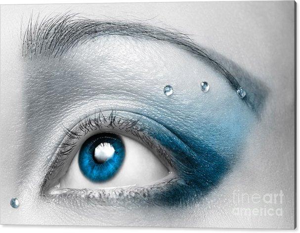 Blue Female Eye Macro with Artistic Make-up by Oleksiy Maksymenko