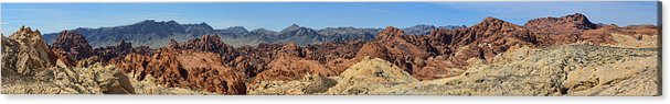 5x40 Acrylic Print featuring the photograph Valley Of Fire by Gregory Scott