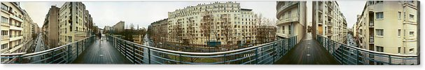 360 Degree Photographs Acrylic Print featuring the photograph 360 Panoramic Photograph Of Paris by Jeff Schomay