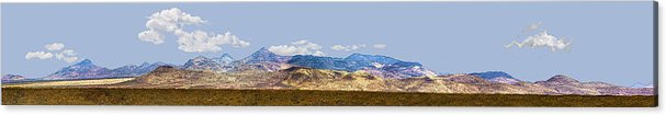 Photography Acrylic Print featuring the photograph Peloncillo Mountains Panorama by Sharon Broucek