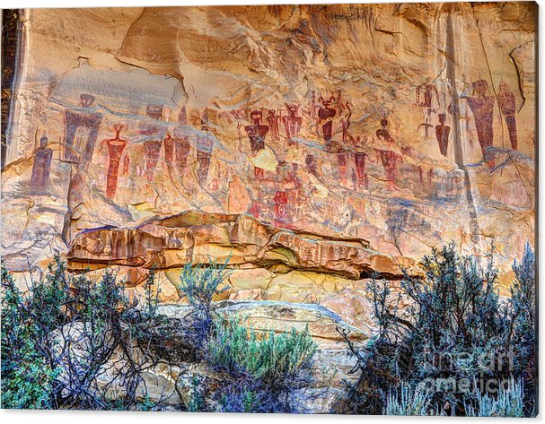 Sego Canyon Indian Petroglyphs and Pictographs by Gary Whitton