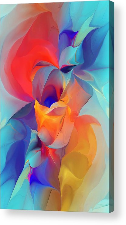 Fine Art Acrylic Print featuring the digital art I Am So Glad by David Lane