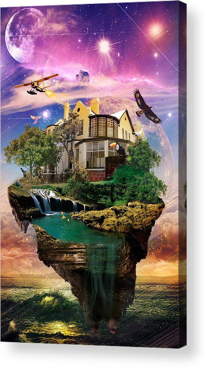 Imagination Home Acrylic Print featuring the digital art Imagination Home by Kenal Louis