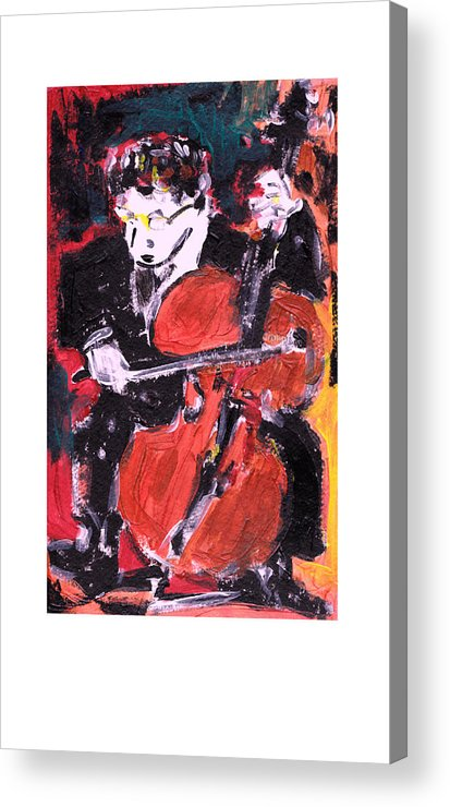 Music Acrylic Print featuring the painting Strad by Samuel Zylstra