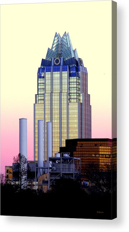 Frost Tower Acrylic Print featuring the photograph The Frost Tower by Lisa Spencer