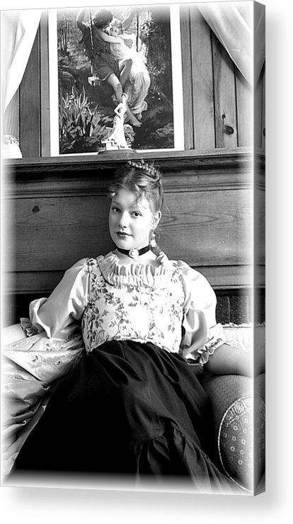 Portrait Acrylic Print featuring the photograph Contemplation by Scarlett Royal