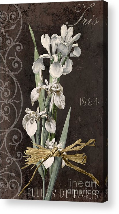 Iris Acrylic Print featuring the painting Fleurs De Paris II by Mindy Sommers