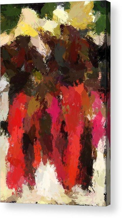 Abstract Acrylic Print featuring the digital art Happy Dance by LeeAnn Alexander