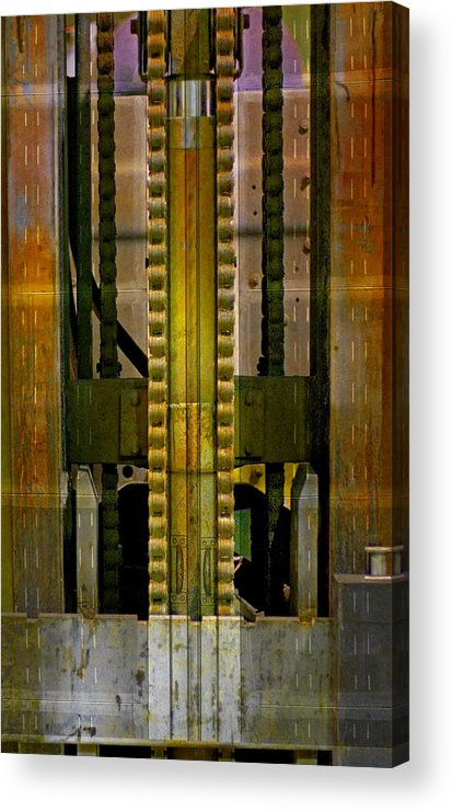 Texture Acrylic Print featuring the photograph Machina by Skip Hunt