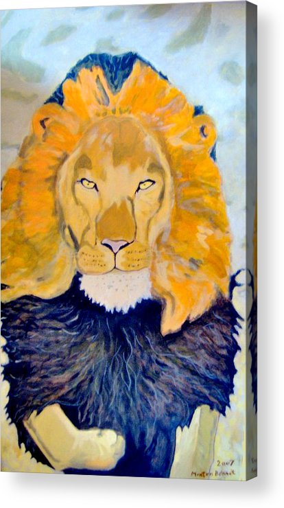 The King Acrylic Print featuring the painting The King by Morten Bonnet