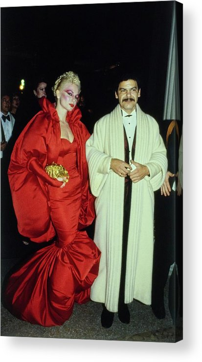 Costume Institute Acrylic Print featuring the photograph The Met Set Valerie Arnoff And Larry Legaspi by Tony Palmieri