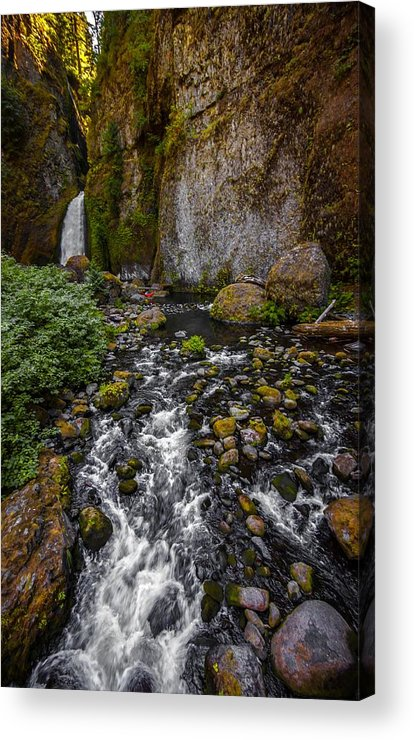 Waterfall Acrylic Print featuring the photograph Waterfall Chillin' by Zachary Bale