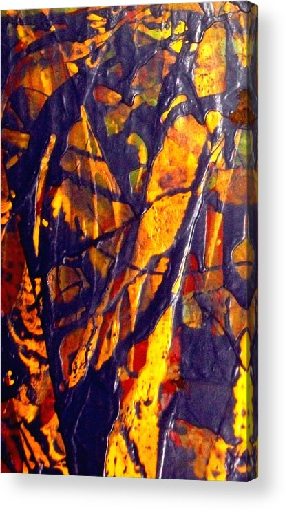 Abstract Acrylic Print featuring the painting When A Tree Falls Alone In A Forest 1 by Bruce Combs - REACH BEYOND