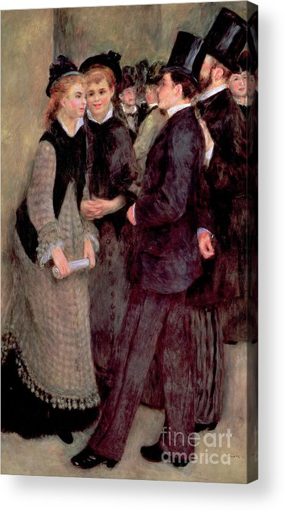 Renoir Acrylic Print featuring the painting Leaving The Conservatory by Pierre Auguste Renoir