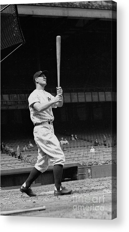 People Acrylic Print featuring the photograph New York Yankees 1 by Kidwiler Collection