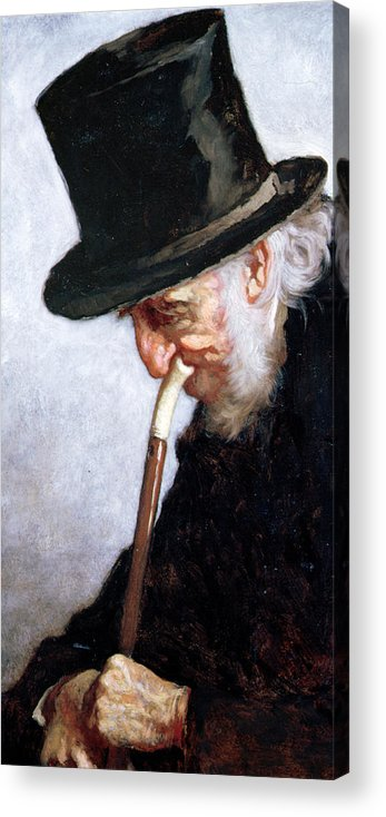 Johnson Acrylic Print featuring the painting A Retired Sea Captain From Massachusetts by Eastman Johnson