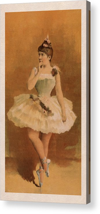Ballet Painting Acrylic Print featuring the digital art Ballet by Aged Pixel