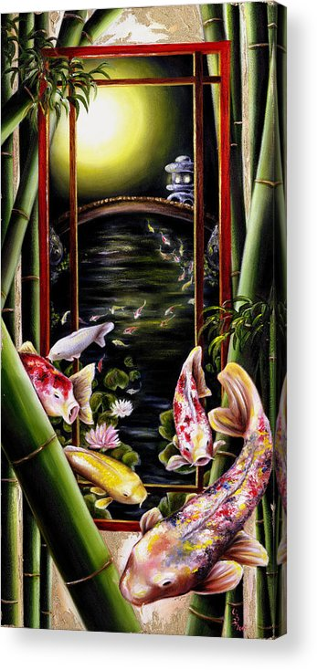 Japanese Acrylic Print featuring the painting Dream by Hiroko Sakai