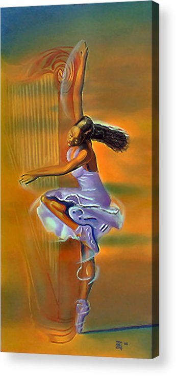 Melody Meridian Acrylic Print featuring the painting Melody Meridian by Fli Art