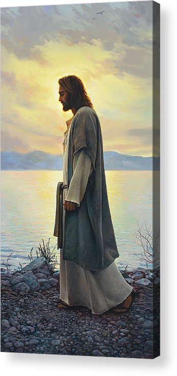 Jesus Acrylic Print featuring the painting Walk With Me 1 by Greg Olsen