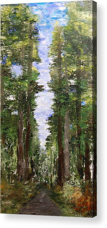 Landscape Acrylic Print featuring the painting A Road Seldom Traveled by Deborah Gall