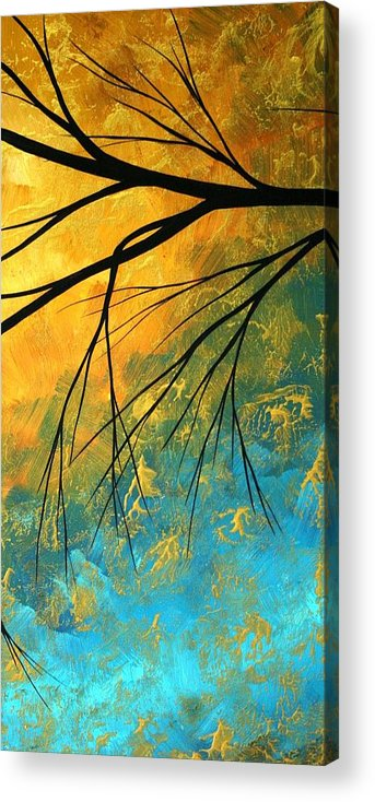 Abstract Acrylic Print featuring the painting Abstract Landscape Art Passing Beauty 2 Of 5 by Megan Duncanson