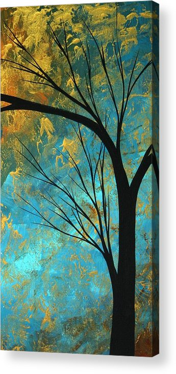 Abstract Acrylic Print featuring the painting Abstract Landscape Art Passing Beauty 3 Of 5 by Megan Duncanson