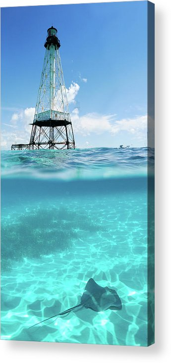 Alligator Reef Acrylic Print featuring the photograph Alligator Reef Lighthouse by Robert Stein