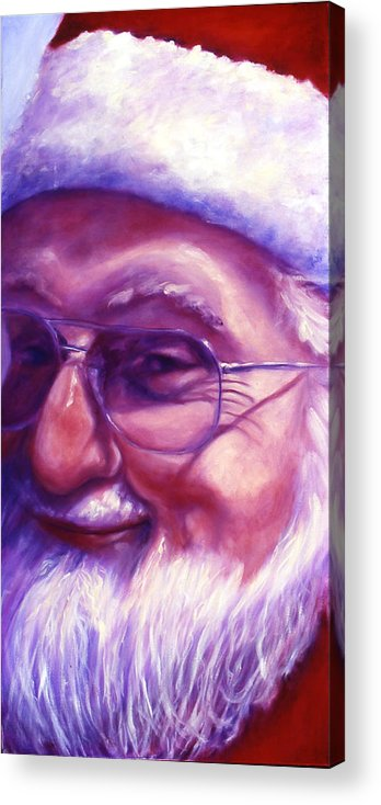 Portrait Acrylic Print featuring the painting Are You Sure You Have Been Nice by Shannon Grissom