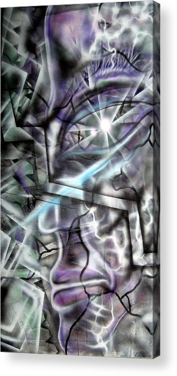 Acrylic Print featuring the painting Broken by Leigh Odom