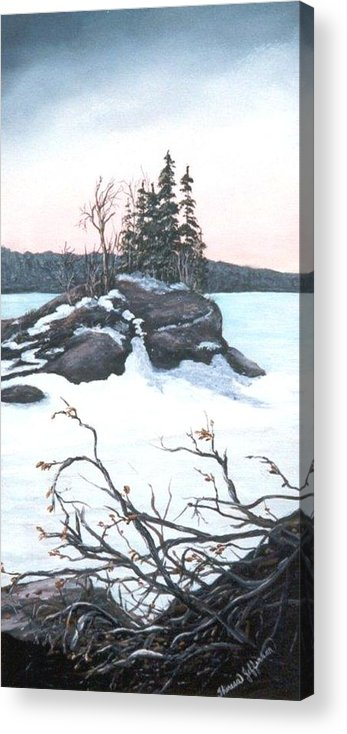 Carin Island Acrylic Print featuring the painting Carin Island by Theresa Jefferson