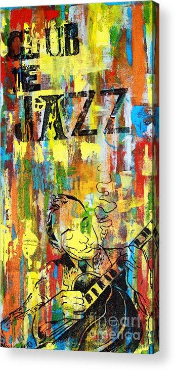 Club Acrylic Print featuring the mixed media Club De Jazz by Sean Hagan