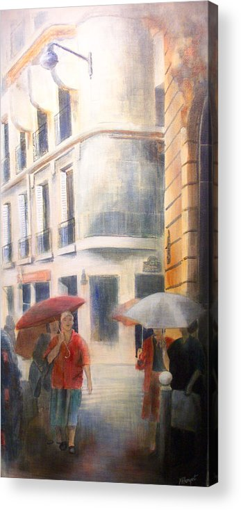 Drizzle Acrylic Print featuring the painting Drizzle by Victoria Heryet