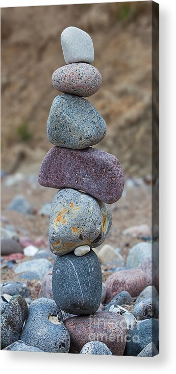 Stone Acrylic Print featuring the photograph Everybody Counts by Frank Boellmann