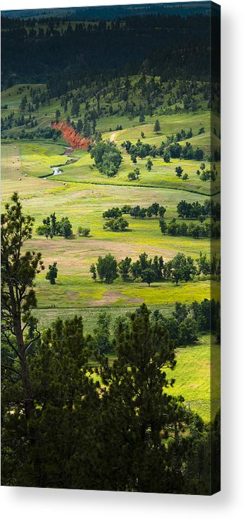 Farm Acrylic Print featuring the photograph Farmers Valley by Chad Davis