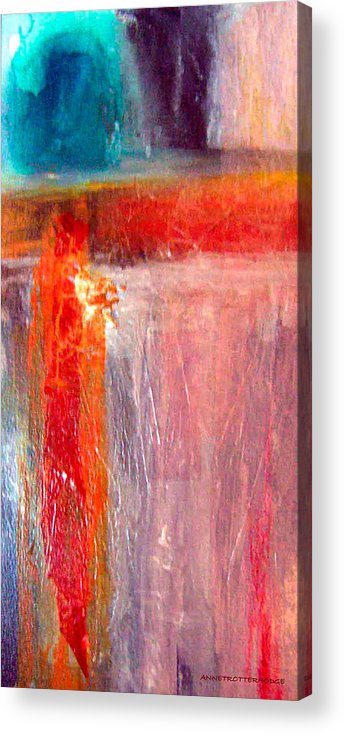 Abstract Acrylic Print featuring the painting Full Power by Anne Trotter Hodge