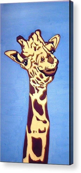 Art Acrylic Print featuring the painting Giraffe by Darren Stein