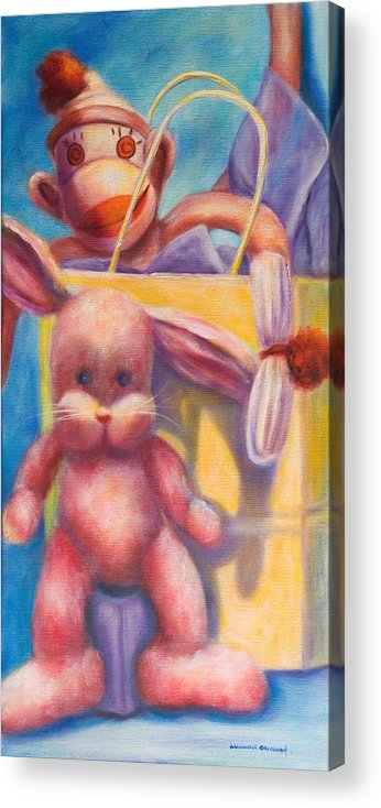 Children Acrylic Print featuring the painting Hide And Seek by Shannon Grissom