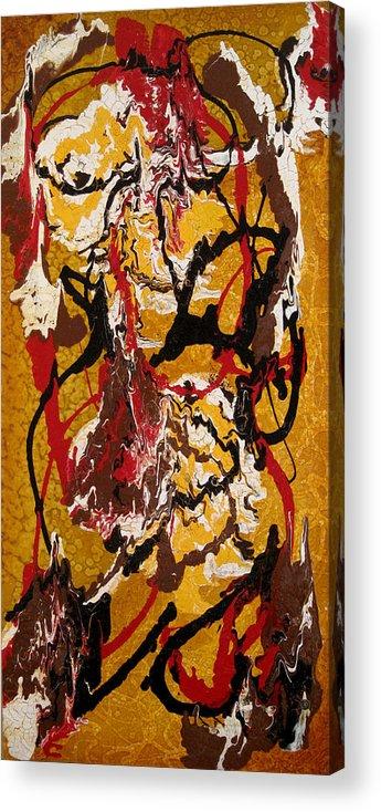 Abstract Art Acrylic Print featuring the painting Joe Sweet by Jill English