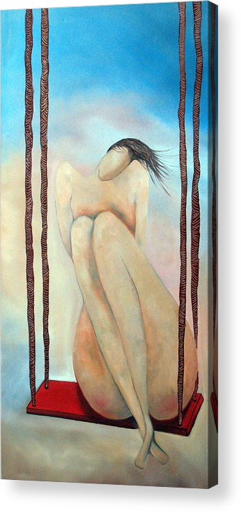 Lady Acrylic Print featuring the painting Lady Marmalade by Niki Sands