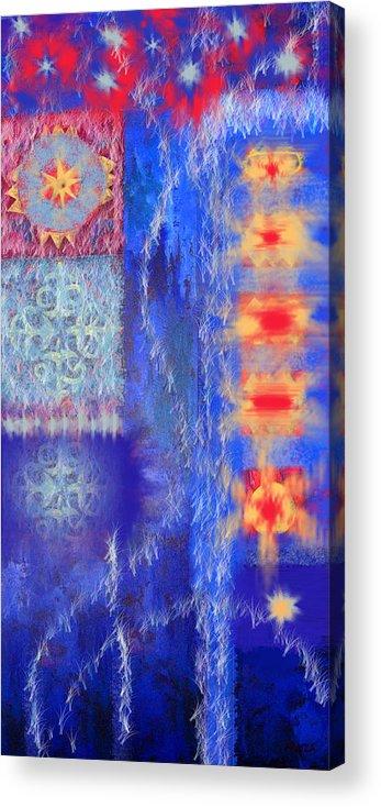 Ice Acrylic Print featuring the digital art Melting Ice by Aliza Souleyeva-Alexander