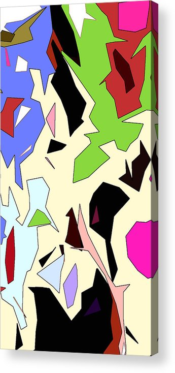 Abstract Acrylic Print featuring the digital art Perhaps Departure Panel Two Of Four by Linda Mears