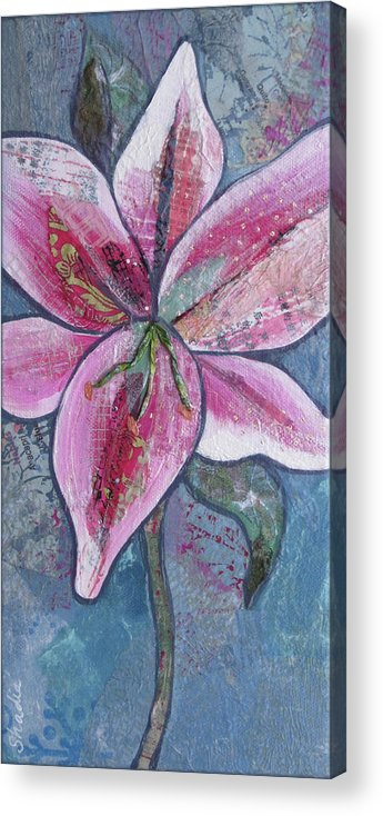 Star Acrylic Print featuring the painting Stargazer II by Shadia Derbyshire