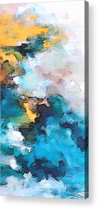 Abstract Acrylic Print featuring the digital art Sweet Memory Shades by Linda Mears