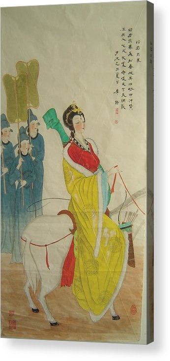 Zhao-jun Acrylic Print featuring the painting Tr 025 Zhao-jun Wang Come Out A Place Of Strategic Importance For Got Along With Neighbouring Countr by Mojie Wang