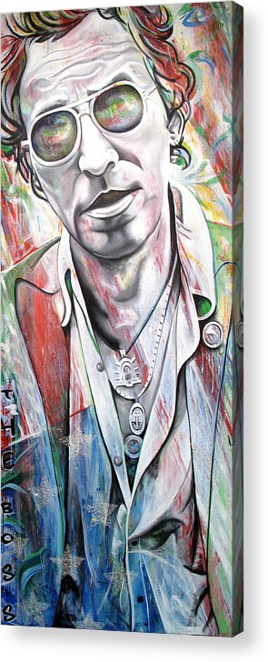 Bruce Springsteen Acrylic Print featuring the painting Bruce Springsteen by Joshua Morton
