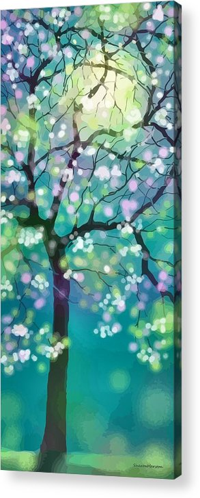 April Acrylic Print featuring the digital art April Night by Sharon Marcella Marston
