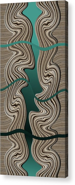 Abstract Acrylic Print featuring the digital art Creation by Efrat Fass