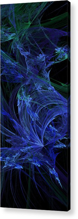 Fractal Acrylic Print featuring the digital art Blue Breeze by Andee Design